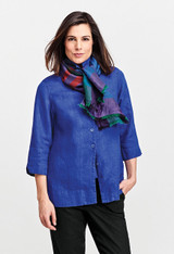 In Lapis with the Scarf in Plaid.