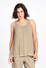 West Side Tunic in Dune Voile.