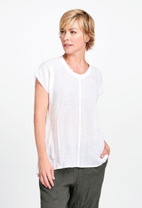 Feather Tee in White Voile.