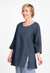 Market Tunic in Slate Handkerchief.