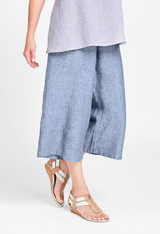 Wide Leg Cropped in Dungaree.