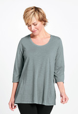 3/4 Sleeve Tunic in Sedona Sage.