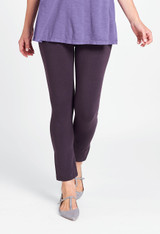 Ankle Length Leggings in Blackberry.