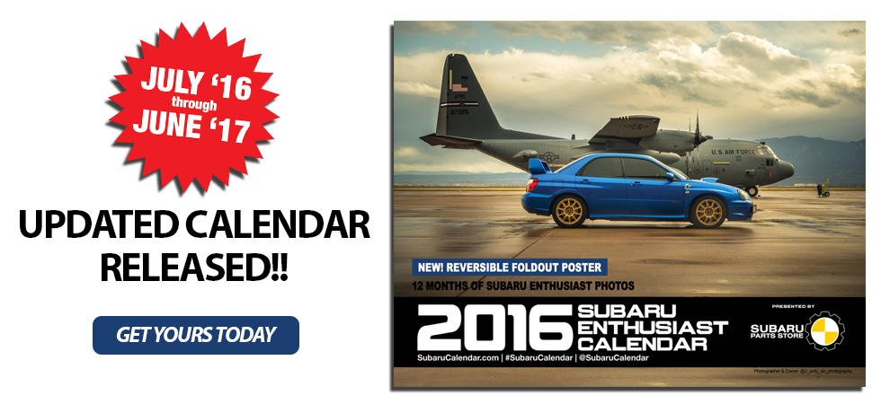 NEW SUBARU CALENDAR EDITION RELEASED
