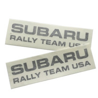 Subaru Rally Team USA Die Cut Vinyl Decals - 2 PACK