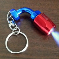 Annodized Hose Fitiing With LED Light Keychain
