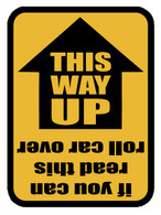 THIS WAY UP Window Decal (Black/Yellow)