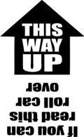 THIS WAY UP Window Vinyl Decal (White or Black)