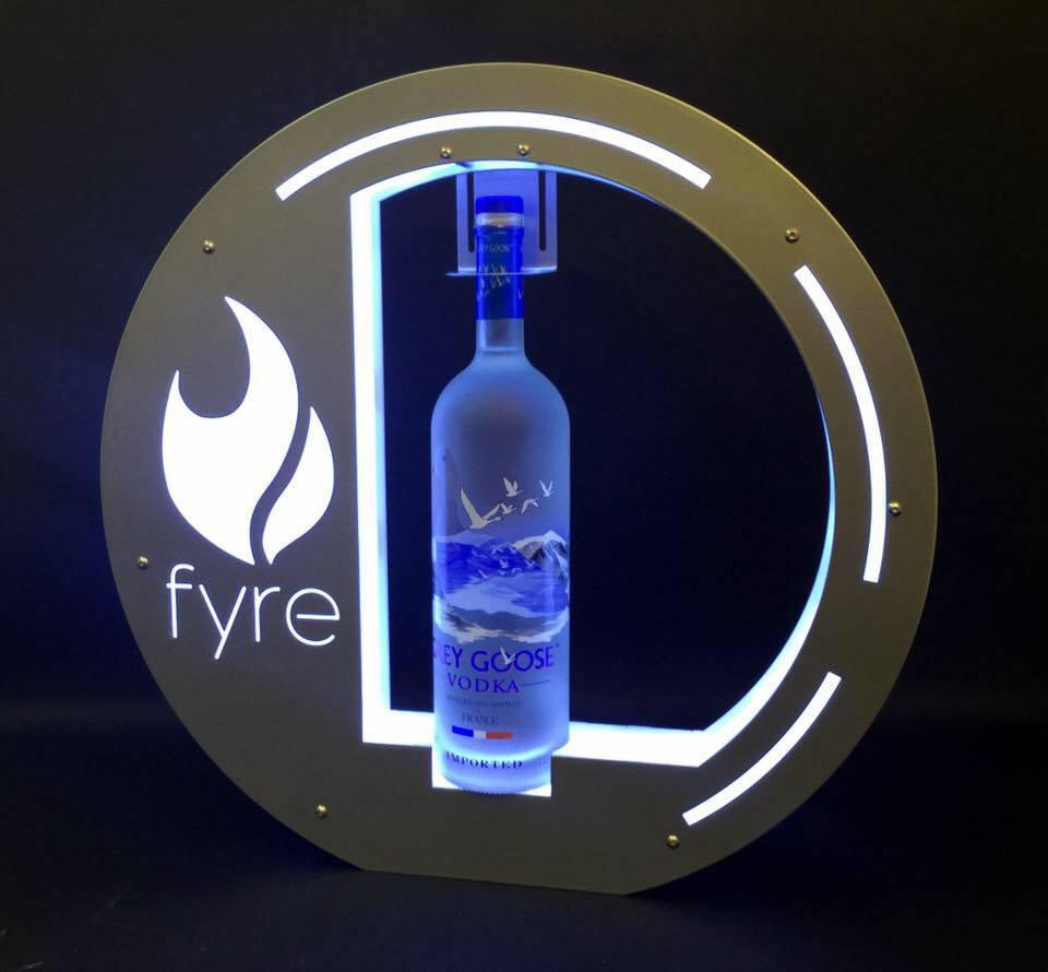 Vip bottle serving tray presenters nightclub