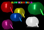 GLOWING BEACH BALL 12 INCH