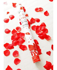 red rose petal confetti poppers