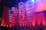 LED INFLATABLE  SPIRAL  STAGE DECORATION