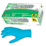 MEMPHIS BLUE NITRILE 8 MIL POWDERED GLOVE / LARGE / ONE BOX - 6025L