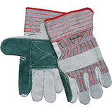 "MEMPHIS DOUBLE LEATHER PALM GLOVES 2-1/2"" RUBBERIZED CUFF 1211"