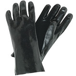 "MEMPHIS 12"" BLACK PVC SMOOTH FINISH GLOVES - 6212"