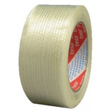 A performance strength fiberglass reinforced filament tape with an aggressive high tack synthetic rubber resin adhesive. This product has high tear resistance and low elongation.