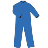 Lakeland Flame Retardant Tyvek Suit - X-Large Blue ***Clearance Item - Price Good While Supplies Last***  Pyrolon coveralls are excellent where Tyvek or cotton coveralls won't work. They are breathable, water and grease repellent, and treated with flame retardants. These qualitites make them a good choice for welding/torch work, cleaning equipment, general maintenance, painting and other oily, greasy jobs.
