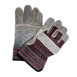 MEMPHIS NATURAL TRIPLE LEATHER PALM WORK GLOVE / LARGE - 1455N