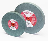 FLEXOVIT 8 X 1 X 1-1/4 GREEN SILICON CARBIDE BENCH GRINDING WHEEL A46 MEDIUM GRIT U5150