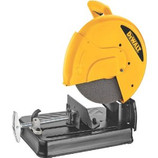"The DEWALT D28710 14-Inch Abrasive Chop Saw has a powerful 15.0 Amp/4.0 HP (maximum motor HP) motor that provides overload protection, increasing performance and durability. It has an ergonomically designed ""D"" handle that provides a more comfortable hand position, reducing fatigue and increasing productivity. The Quick-Lock Vise allows for fast clamping on different size and the 45-degree pivoting fence allows for fast and accurate angle cuts. It has a steel base that allows user to weld jigs or stops directly onto the base. The Spindle Locks allowing user to make wheel changes quickly and easily, saving time and money. It also has a heavy-duty lock down pin that allows the head of the saw to be locked in the carrying position without the use of a chain. The spark guard is adjustable and allows the users to direct sparks away from the work area. It has an on-board wheel change wrench for convenient storage and greatly reduces the risk of lost wrenches."