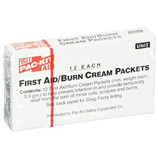 PAC KIT FIRST AID BURN CREAM .5 GRAM PACKET 12/BOX