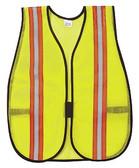 """RIVER CITY LIME POLY MEST SAFETY VEST ADJUSTABLE CLOSURE ELASTIC SIDE STRAPS 2"""" REFLECTIVE STRIPE V200R"""