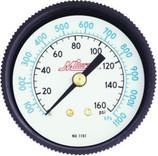 Milton Industries AIR GAUGE 0-160 1/4NPT CENTER BACK MOUNT