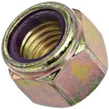 3/8-16 NYLON LOCK NUT - GR 8 ZINC/YELLOW