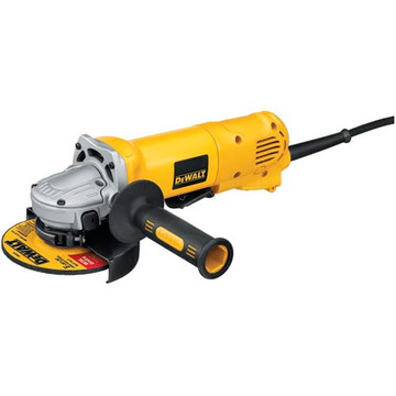 The DEWALT D28402 4-1/2-Inch small angle grinder has a 10-Amp motor for faster material remover and higher overload protection. Its matching wheel flanges allow the use of common accessories. The grinder features a paddle switch with safety lock-off which prevents accidental start up.