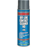 Aervoe 415 Contact cleaner is a fast evaporating cleaner that is highly refined and designed for use on high-tech electronic hardware, PCBs and PWBs. It is safe for use on metal, plastics, rubber, and glass surfaces. This product should not be used on energized equipment or equipment in operation.
