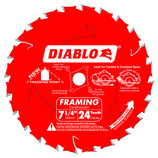 "DIABLO 7-1/4 X 5/8"" FRAMING WOOD CIRCULAR SAW BLADE 24 TOOTH D0724A"