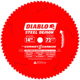 "DIABLO 14"" X 1"" METAL CUTTING SAW BLADE 72 TOOTH D1472CF"