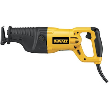 With orbital action for fast wood cutting applications, the DeWalt DW311K heavy-duty 13 amp reciprocating saw comes with a keyless adjustable shoe that easily adjusts the depth of cut and extends blade life. Key features include a powerful 13 amp motor designed for heavy-duty applications and a keyless stainless steel blade clamp for quick and easy blade changing. Capable of 0-to-2,700 strokes per minute and with a 1-1/8-inch stroke length for fast cutting, this saw comes with a variable speed dial and an anti-slip comfort grip handle for increased comfort and improved control. This saw measures 18 inches long and weighs nine pounds, and comes with a heavy-duty carrying case and an instruction manual.