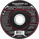 FLEXOVIT 4-1/2 x .045 x 7/8 Razorblade Type 27 Cutoff DISC/WHEEL A0481