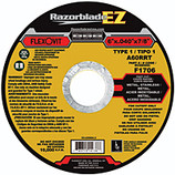 "FLEXOVIT 6"" X .040 X 7/8"" ULTRA-THIN RAZORBLADE CUTOFF DISC/WHEEL A60RRT GRIT  25/100 BX F1706"