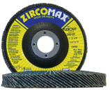"FLEXOVIT 4-1/2"" x 7/8"" ZIRCOTEX ZA40 FLAP DISC/WHEEL 10/BX Z4500F"