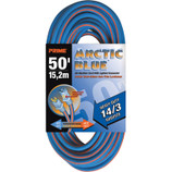 PRIME WIRE 530835 - 100' SJEOW-A ARCTIC BLUE EXTENSION CORD W/LIGHTED END 3/CS