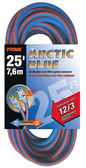 PRIME WIRE 530825 - 25' 12/3 SJEOW-A ARCTIC BLUE EXT. CORD W/LIGHTED END