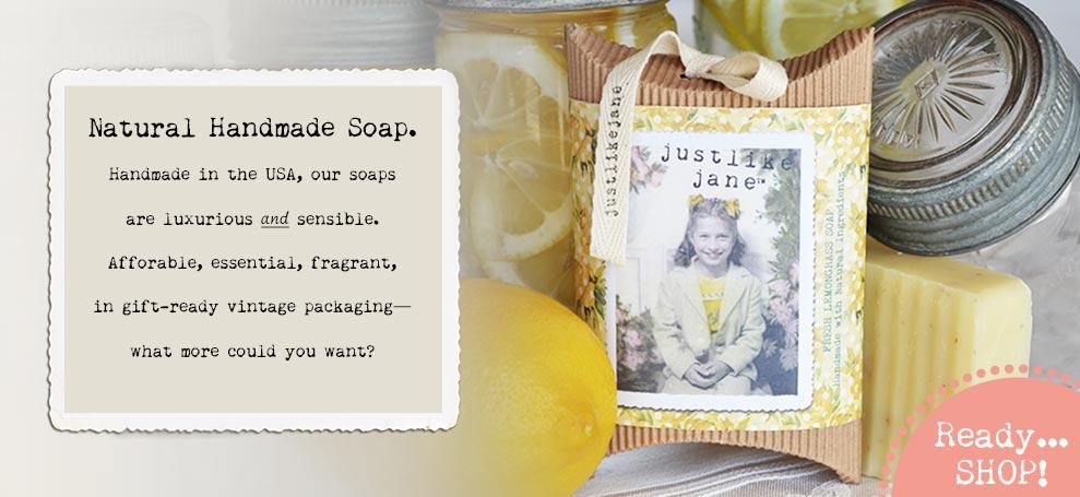 Vintage Style Handmade Soap in Fresh Cut Lemon