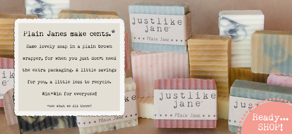 Plain Jane soaps in a plain brown wrapper. Makes cents!