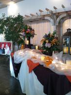 Purple & Orange Buffet.