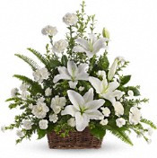 Peaceful White Lily Bouquet by Teleflora 79.95