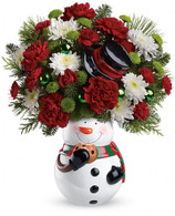 Snowman Cookie Jar BY Teleflora