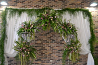 Arbor with Textural flowers