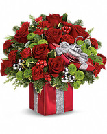 Gift Wrapped bouquet by Teleflora
