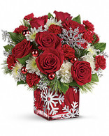 Silver Christmas Bouquet by Teleflora