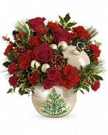 Classic Pearl Christmas Ornament by Teleflora