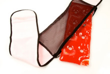 Lower Back Heating Pad with Belt in red