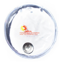 Round Pocket Heating Pad in clear