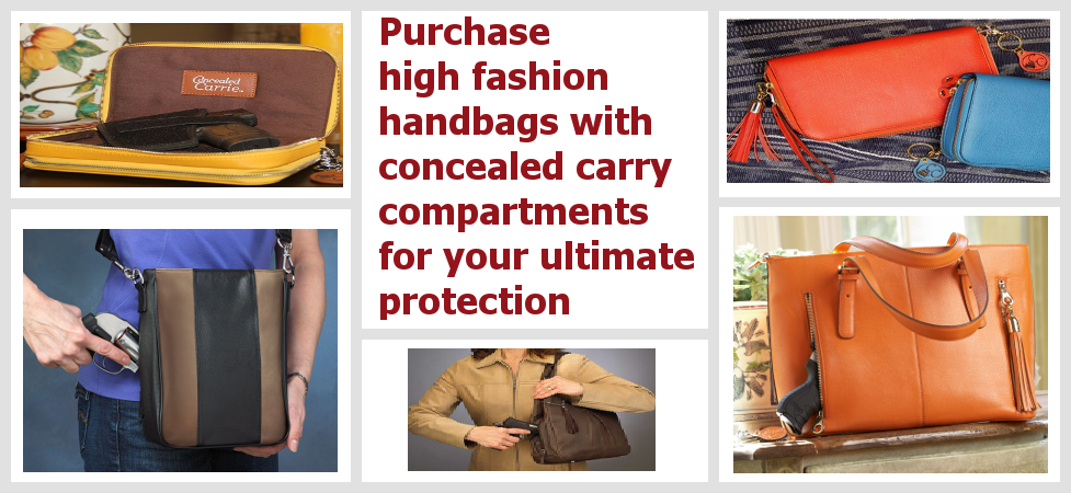 Keep your sense of style with high fashion concealed carry purses